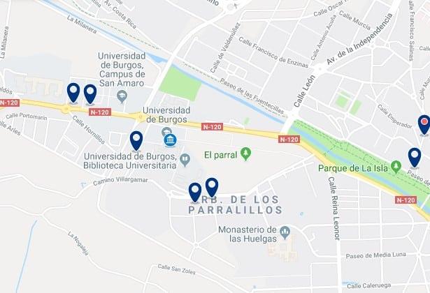 Alojamiento cerca de la Universidad de Burgos - Haz clic para ver todos el alojamiento disponible en esta zona