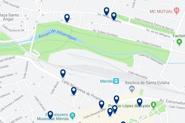 Alojamiento cerca de la estación de trenes de Mérida - Haz clic para ver todos el alojamiento disponible en esta zona