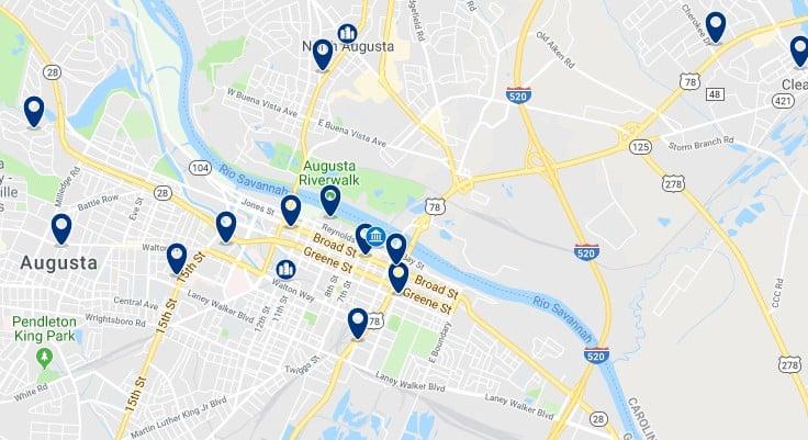 Alojamiento en Downtown Augusta - Haz clic para ver todos el alojamiento disponible en esta zona