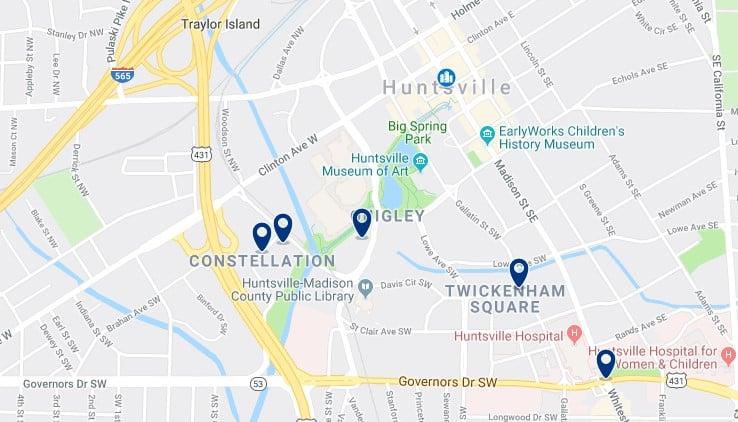 Alojamiento en Downtown Huntsville - Haz clic para ver todos el alojamiento disponible en esta zona