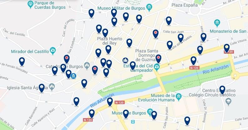Alojamiento en el Centro Histórico de Burgos - Haz clic para ver todos el alojamiento disponible en esta zona