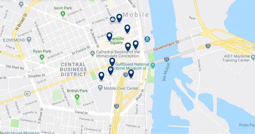 Alojamiento en el Mobile Central Business District - Haz clic para ver todos el alojamiento disponible en esta zona