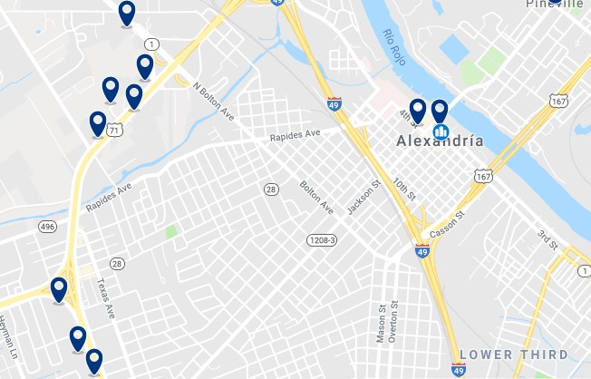 Alojamiento en Alexandria - Haz clic para ver todos el alojamiento disponible en esta zona