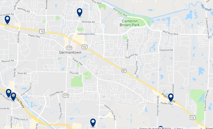 Alojamiento en Germantown - Haz clic para ver todos el alojamiento disponible en esta zona