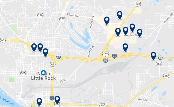 Alojamiento en North Little Rock - Haz clic para ver todos el alojamiento disponible en esta zona