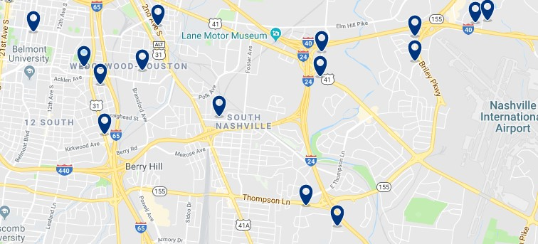Alojamiento en South Nashville - Haz clic para ver todos el alojamiento disponible en esta zona