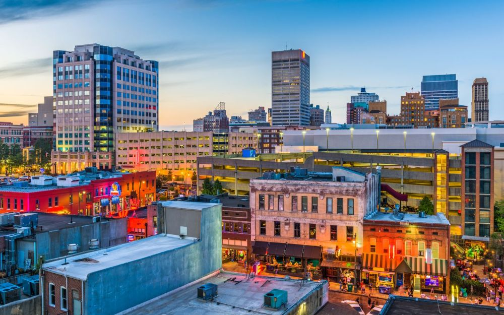 Mejores zonas donde alojarse en Memphis - Downtown