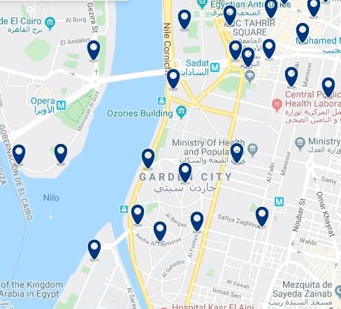 Alojamiento en Garden City - Haz clic para ver todos el alojamiento disponible en esta zona