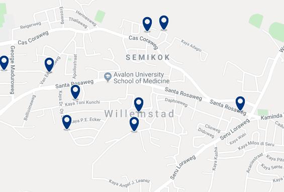 Alojamiento en Willemstad - Haz click para ver todo el alojamiento disponible en esta zona