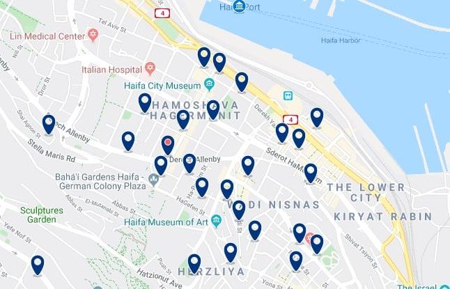 Alojamiento en el Centro de Haifa - Haz clic para ver todos el alojamiento disponible en esta zona