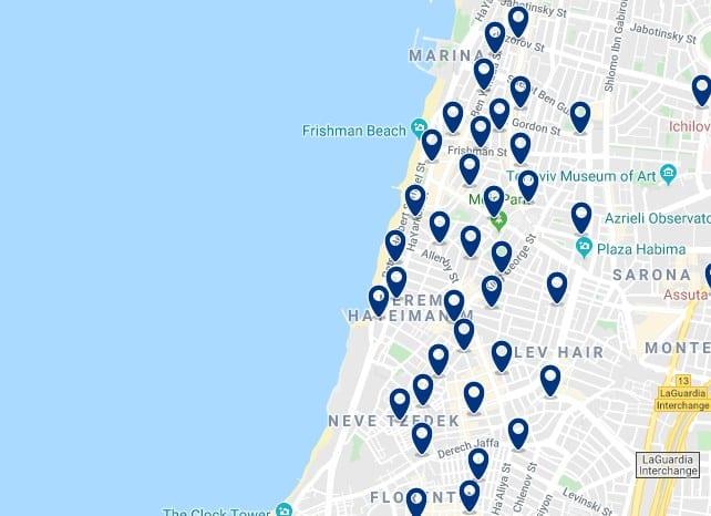 Alojamiento en el centro y paseo marítimo de Tel Aviv - Haz clic para ver todos el alojamiento disponible en esta zona