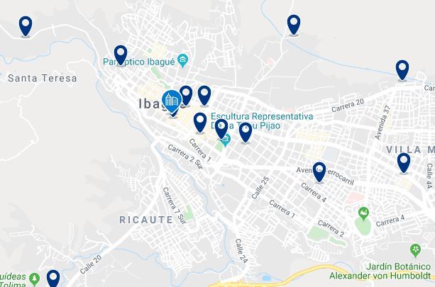 Alojamiento en el Centro de Ibagué - Haz clic para ver todo el alojamiento disponible en esta zona