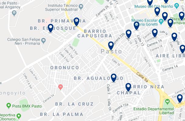 Alojamiento en el Centro de Pasto - Haz clic para ver todo el alojamiento disponible en esta zona