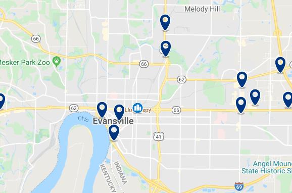 Alojamiento en el Downtown de Evansville - Haz clic para ver todo el alojamiento disponible en esta zona