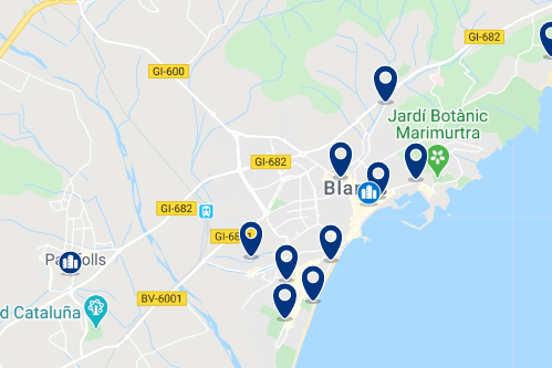 Alojamiento en Blanes - Haz clic para ver todo el alojamiento disponible en esta zona