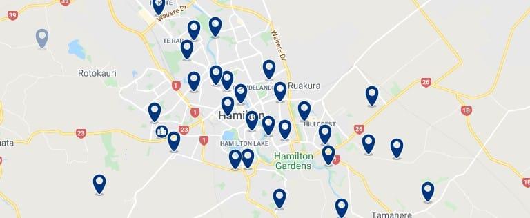 Alojamiento en Hamilton - Haz clic para ver todos el alojamiento disponible en esta zona