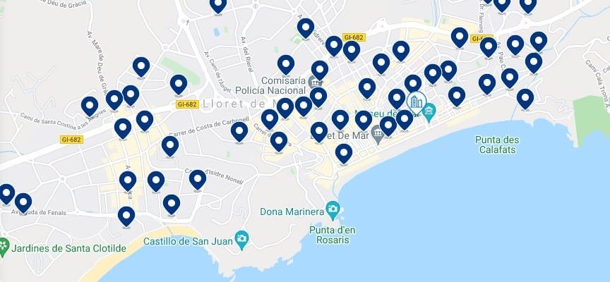 Alojamiento en Lloret de Mar - Haz clic para ver todo el alojamiento disponible en esta zona