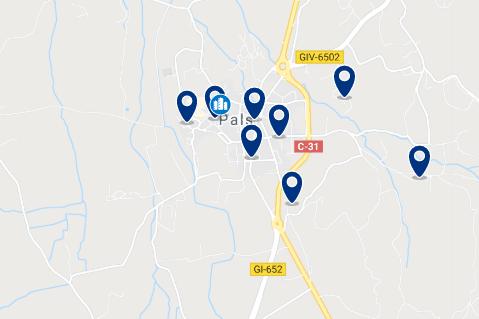 Alojamiento en Pals - Haz clic para ver todo el alojamiento disponible en esta zona