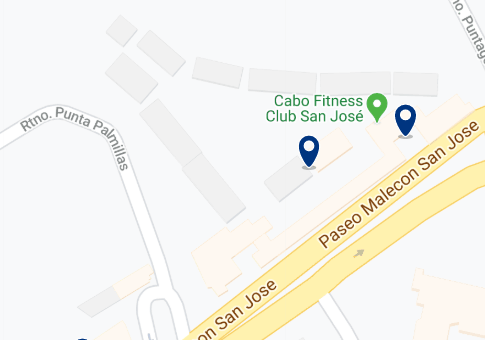 Accommodation in the hotel area of San José del Cabo - Click on the map to see all accommodation in this area