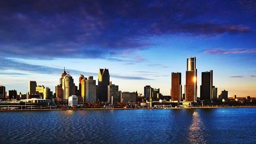 Vistas de Detroit desde Windsor, una de las mejores zonas donde hospedarse en Detroit