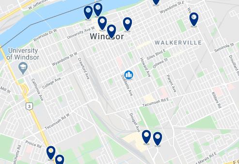 Alojamiento en Downtown Windsor- Haz clic para ver todo el alojamiento disponible en esta zona