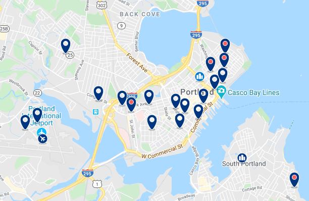 Alojamiento en Downtown Portland - Haz clic para ver todo el alojamiento disponible en esta zona
