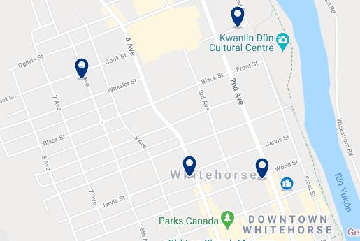 Alojamiento en Whitehorse Centro - Haz clic para ver todo el alojamiento disponible en esta zona