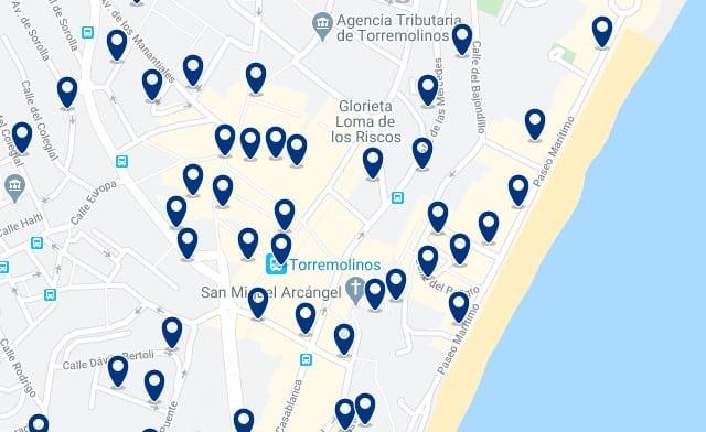 Accommodation in Torremolinos - Clica sobre el mapa para ver todo el alojamiento en esta zona