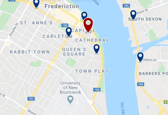 Alojamiento en Fredericton City Centre - Haz clic para ver todo el alojamiento disponible en esta zona