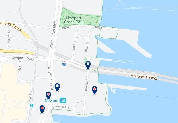 Alojamiento en Newport - Clica sobre el mapa para ver todo el alojamiento en esta zona