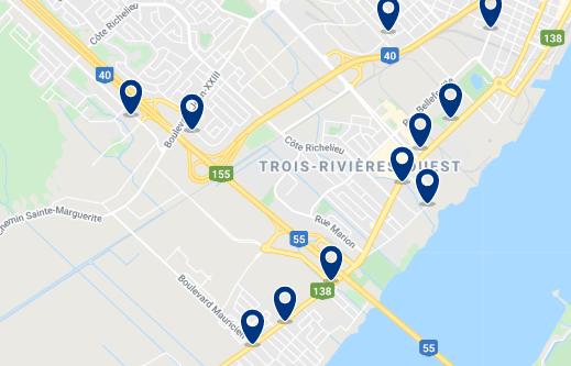 Alojamiento en Ouest Trois-Rivières - Haz clic para ver todo el alojamiento disponible en esta zona