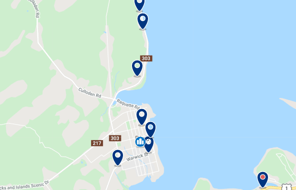 Accommodation in Downtown  - Click on the map to see all available accommodation in the area