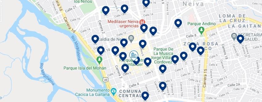 Alojamiento en Neiva Centro - Haz clic para ver todos el alojamiento disponible en esta zona