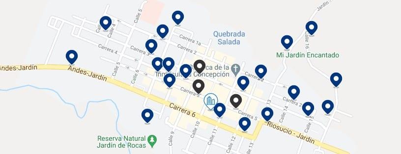 Alojamiento en el centro de Jardín, Colombia - Haz clic para ver todos el alojamiento disponible en esta zona