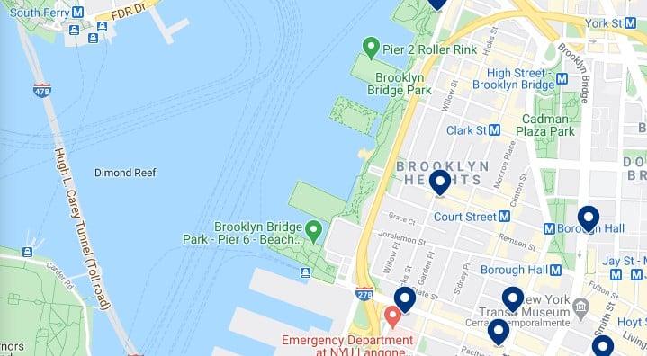 Alojamiento en Brooklyn Heights - Haz clic para ver todos el alojamiento disponible en esta zona