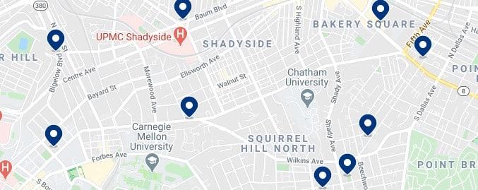 Alojamiento en Shadyside - Haz clic para ver todos el alojamiento disponible en esta zona