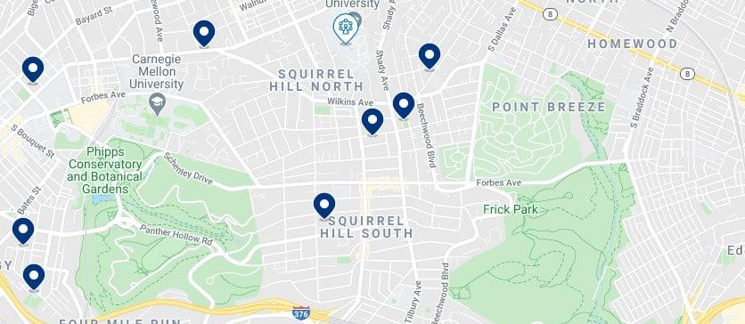 Alojamiento en Squirrel Hill - Haz clic para ver todos el alojamiento disponible en esta zona