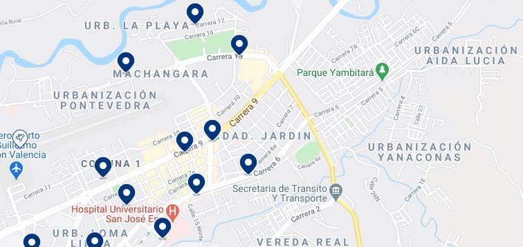 Alojamiento en el norte de Popayán, Colombia - Haz clic para ver todos el alojamiento disponible en esta zona