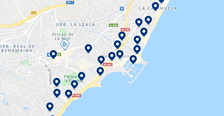 Accommodation in Benalmádena - Click on the map to see all the available accommodation in this area