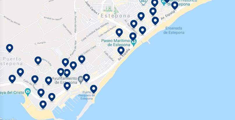 Alojamiento cerca de las playas de Estepona - Haz clic para ver todo el alojamiento disponible en esta zona