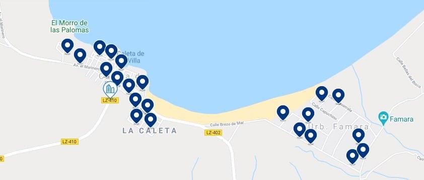 Alojamiento en Caleta de Famara - Haz clic para ver todo el alojamiento disponible en esta zona