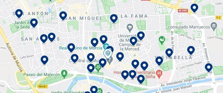 Alojamiento en el Centro Histórico de Murcia – Haz clic para ver todo el alojamiento disponible en esta zona