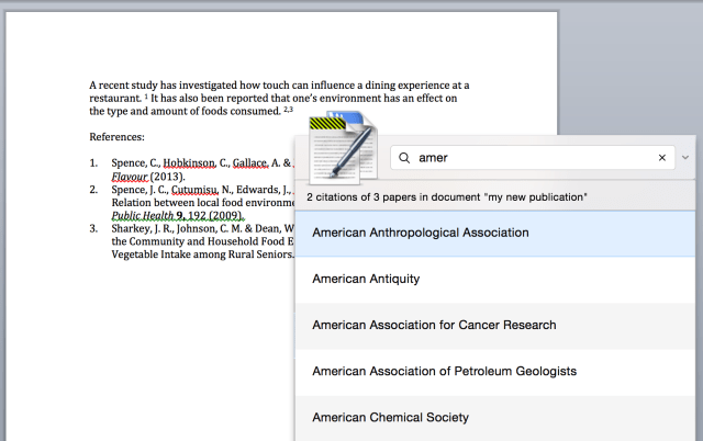Magic Citations on Papers 28 for Mac : Papers Support