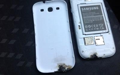 Il Galaxy S3 esplode? No, è solo la bravata di un idiota