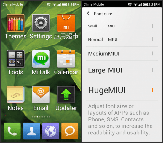 MIUI 2.8.3 e Italian pack da Nexus lab