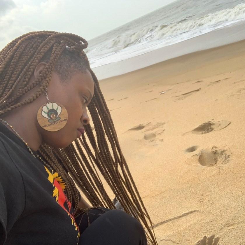 Melanated Pearl   Black Women In beach in Africa
