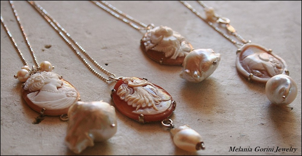 Perle barocche e cammei - Baroque pearls and cameos (1/6)