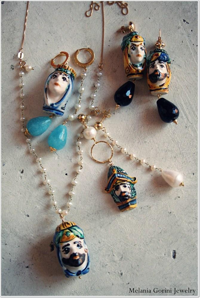 Le ceramiche di Caltagirone (made in Sicilia) diventano gioielli... (3/6)