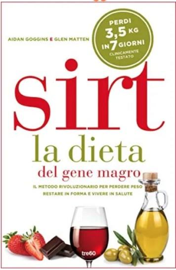 La copertina del libro della dieta Sirt