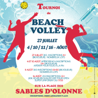 "Affiche ""Haut les mains !"" - Beach Volley - aux Sables d'Olonne !"